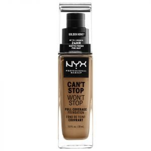 Nyx Professional Makeup Can't Stop Won't Stop 24 Hour Foundation Various Shades Golden Honey