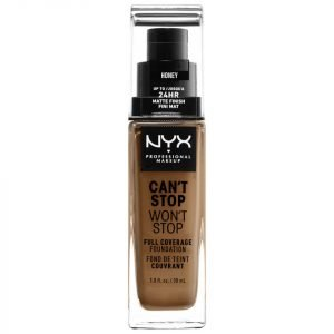 Nyx Professional Makeup Can't Stop Won't Stop 24 Hour Foundation Various Shades Honey