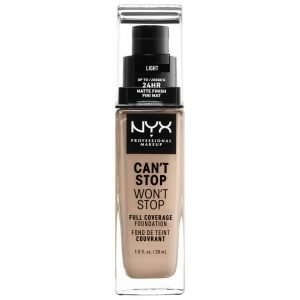 Nyx Professional Makeup Can't Stop Won't Stop 24 Hour Foundation Various Shades Light