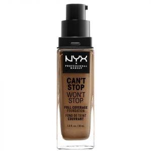 Nyx Professional Makeup Can't Stop Won't Stop 24 Hour Foundation Various Shades Mahogany