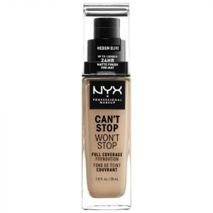 Nyx Professional Makeup Can't Stop Won't Stop 24 Hour Foundation Various Shades Medium Olive