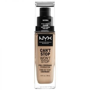 Nyx Professional Makeup Can't Stop Won't Stop 24 Hour Foundation Various Shades Natural