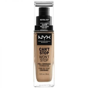 Nyx Professional Makeup Can't Stop Won't Stop 24 Hour Foundation Various Shades Neutral Buff