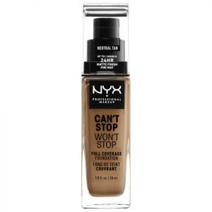Nyx Professional Makeup Can't Stop Won't Stop 24 Hour Foundation Various Shades Neutral Tan