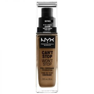 Nyx Professional Makeup Can't Stop Won't Stop 24 Hour Foundation Various Shades Nutmeg