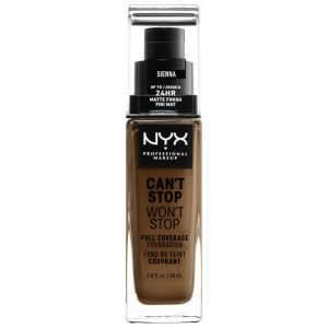Nyx Professional Makeup Can't Stop Won't Stop 24 Hour Foundation Various Shades Sienna