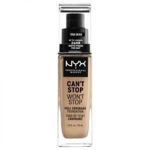 Nyx Professional Makeup Can't Stop Won't Stop 24 Hour Foundation Various Shades True Beige