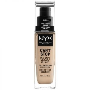 Nyx Professional Makeup Can't Stop Won't Stop 24 Hour Foundation Various Shades Vanilla