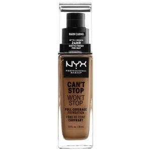 Nyx Professional Makeup Can't Stop Won't Stop 24 Hour Foundation Various Shades Warm Carmel