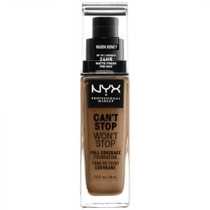 Nyx Professional Makeup Can't Stop Won't Stop 24 Hour Foundation Various Shades Warm Honey