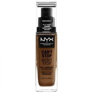 Nyx Professional Makeup Can't Stop Won't Stop 24 Hour Foundation Various Shades Warm Mahogany