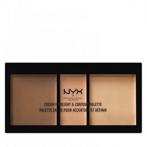 Nyx Professional Makeup Cream Highlight And Contour Palette Korostusväripaletti Medium