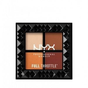 Nyx Professional Makeup Full Throttle Shadow Palette Luomiväri Color Riot