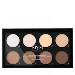 Nyx Professional Makeup Highlight & Contour Pro Palette Korostusväripaletti Monivärinen
