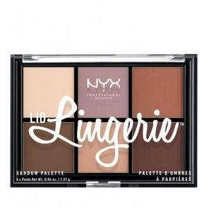 Nyx Professional Makeup Lid Lingerie Shadow Palette Luomiväri Multicolor
