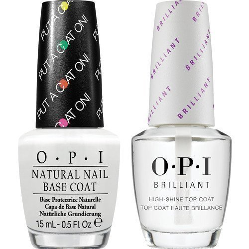 OPI Brilliant Top Coat + Base Coat