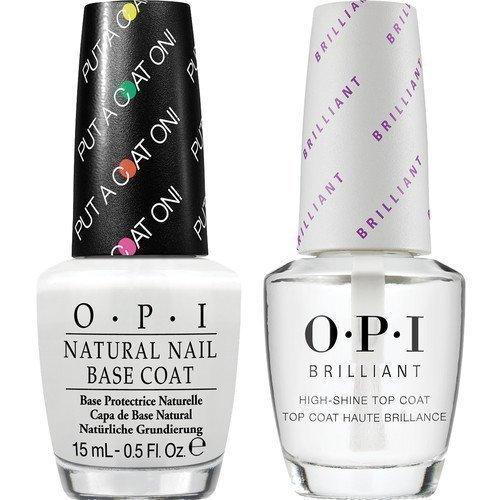 OPI Brilliant Top Coat + Base Coat