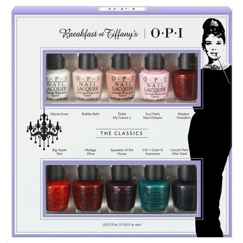 OPI Holiday 2016 Breakfast At Tiffany's 10 Minis