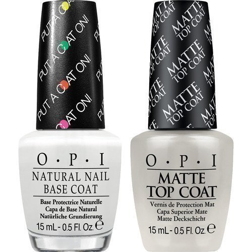 OPI Matte Top Coat + Base Coat