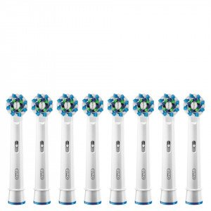 Oral-B Cross Action Replacement Toothbrush Heads 8 Pack