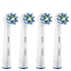 Oral-B Cross Action Toothbrush Head Refills X4