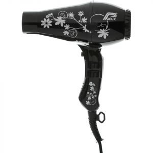 Parlux 3200 Flowers Hair Dryer Black / Silver