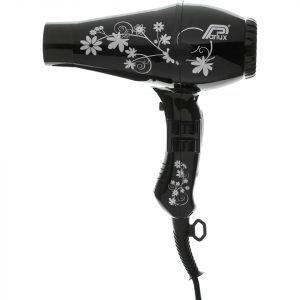 Parlux 3200 Flowers Hair Dryer Black / Silver