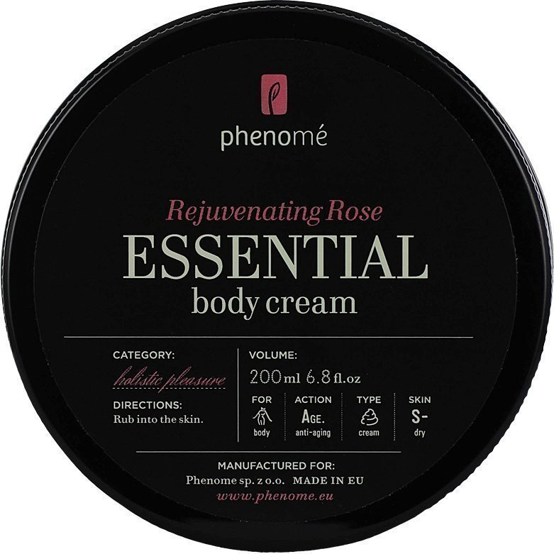 Phenomé Rejuvenating Rose Essential Body Cream 200ml