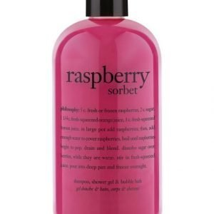 Philosophy Bath Raspberry Sorbet 3 In 1 Shower Gel Suihkutuote 480 ml