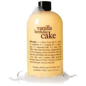 Philosophy Bath Vanilla Birthday Cake 3 In 1 Shower Gel Suihkutuote 480 ml