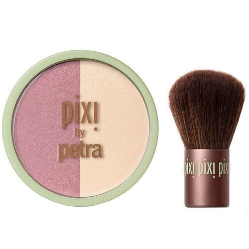 Pixi Beauty Blush Duo + Kabuki Peach Honey