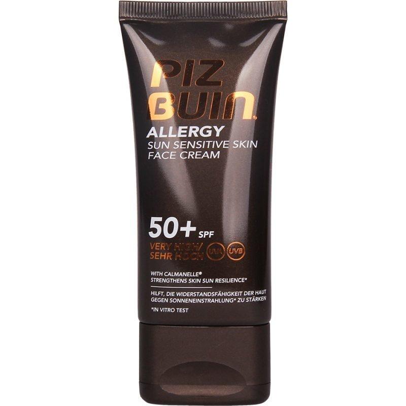 Piz Buin Allergy Face Cream Sun Sensitive Skin Lotion SPF50+ 50ml