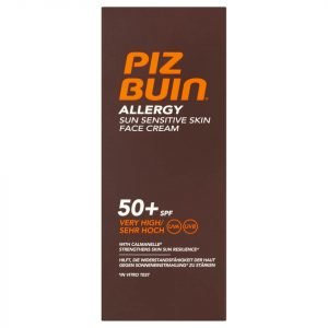 Piz Buin Allergy Sun Sensitive Skin Face Cream Very High Spf50+ 50 Ml