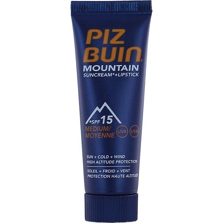 Piz Buin Mountain Combi Face Cream & Sun Stick SPF15 20ml