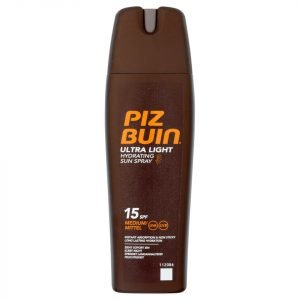 Piz Buin Ultra Light Hydrating Sun Spray Medium Spf15 200 Ml