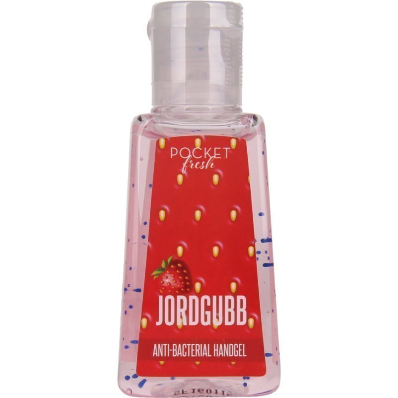 Pocketfresh JordgubbBacterial Handgel 29ml