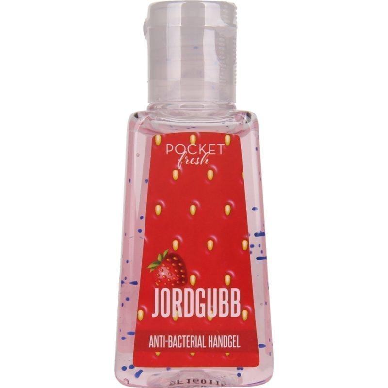 Pocketfresh JordgubbBacterial Handgel 29ml