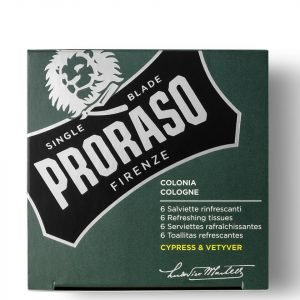 Proraso Refreshing Tissues Cypress And Vetyver Pack Of 6