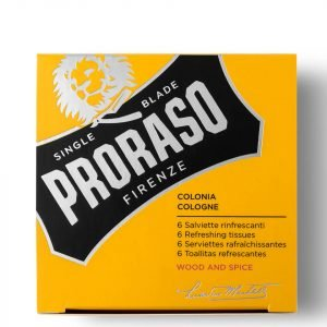 Proraso Refreshing Tissues Wood And Spice Pack Of 6