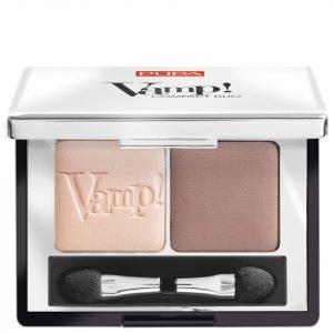 Pupa Vamp! Compact Eyeshadow Duo Milk Chocolate