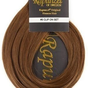 Rapunzel #8 Ruskea Clip On-setti Hair Extensions