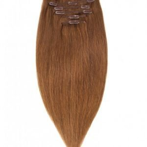 Rapunzel Of Sweden 30 Cm Clip-On Set Original 7 Pieces Hiustenpidennys Brown