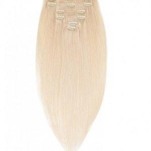 Rapunzel Of Sweden 40 Cm Clip-On Set Original 7 Pieces Hiustenpidennys Light Blond