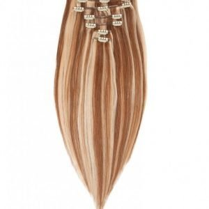 Rapunzel Of Sweden 40 Cm Clip-On Set Original 7 Pieces Hiustenpidennys Strawberry Brown Mix