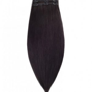 Rapunzel Of Sweden 50 Cm Clip-On Set Original 3 Pieces Hiustenpidennys Black Brown