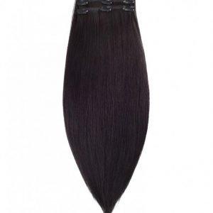 Rapunzel Of Sweden 50 Cm Clip-On Set Original 3 Pieces Hiustenpidennys Black Brown