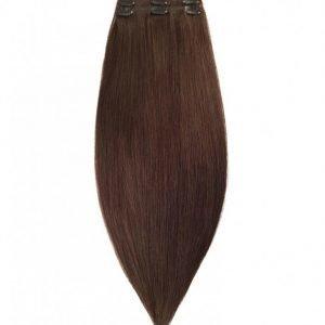 Rapunzel Of Sweden 50 Cm Clip-On Set Original 3 Pieces Hiustenpidennys Chocolate Brown