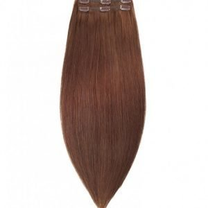 Rapunzel Of Sweden 50 Cm Clip-On Set Original 3 Pieces Hiustenpidennys Dark Brown