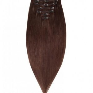 Rapunzel Of Sweden 50 Cm Clip-On Set Original 7 Pieces Hiustenpidennys Chocolate Brown