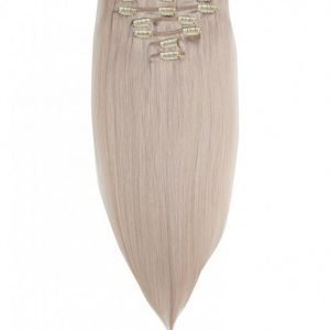 Rapunzel Of Sweden 50 Cm Clip-On Set Original 7 Pieces Hiustenpidennys Light Grey